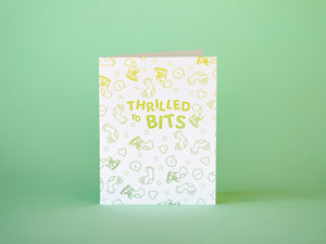 Thrilled to Bits Congrats Card - MC4