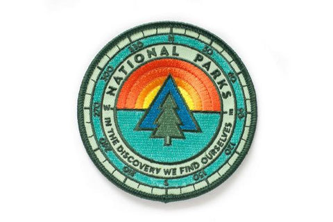 National Park Sunrise Iron-on Patch