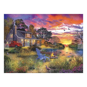 Evening Cabin Puzzle - 1000 Piece