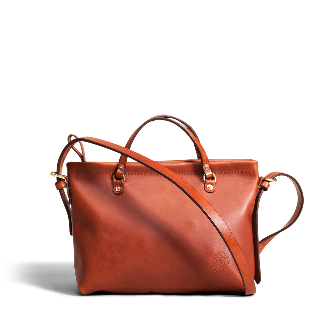 Merces Leather Cross Body Bag in Tan