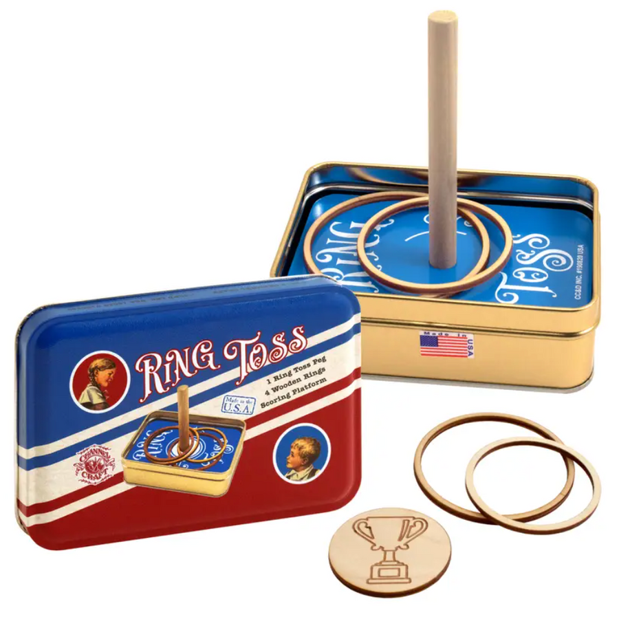 Ring Toss in a Classic Toy Tin