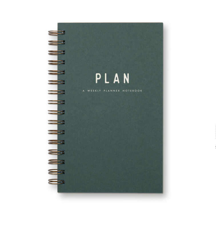 Simple Weekly Planner Notebook - Forest Green