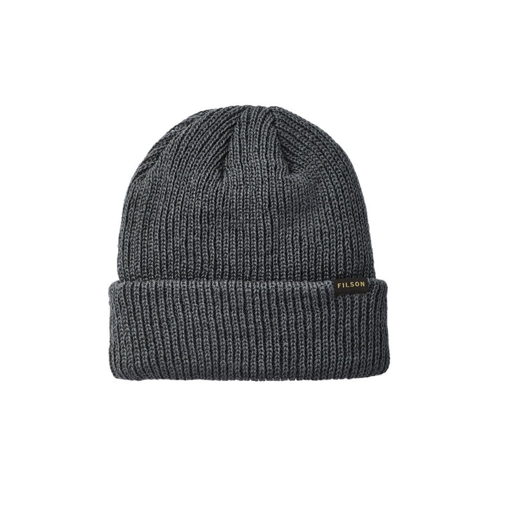 Filson Watch Cap Wool Beanie - Charcoal
