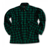 Cruiser Wool Jacket in Green and Black Stag