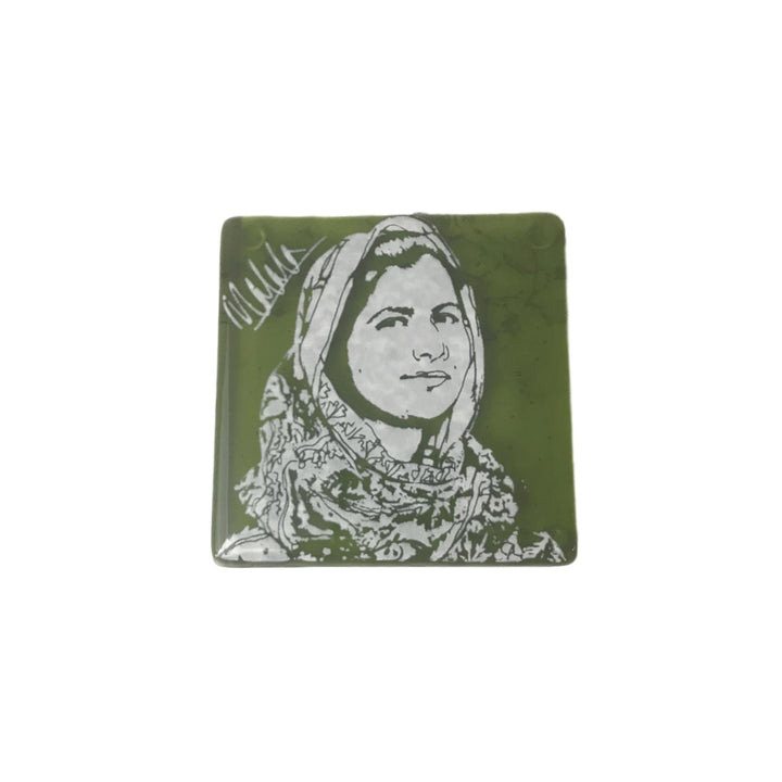 Glass Coaster - Malala Yousafzai