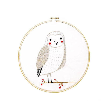 Embroidery Sampler - Merriment Snow Owl