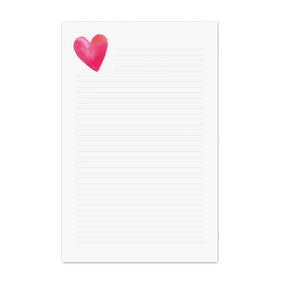Heart Lined Note Pad
