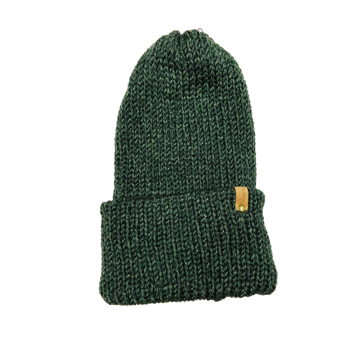 Hand Knit Log Cabin Beanie - Canyon Green