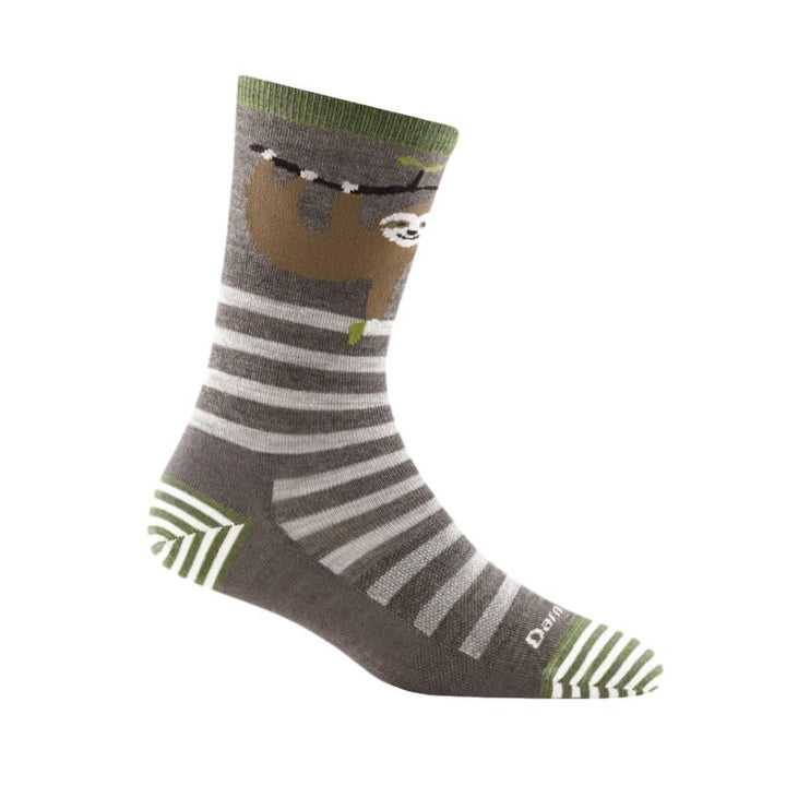 Women's Merino Wool Animal Haus Crew Sock Taupe