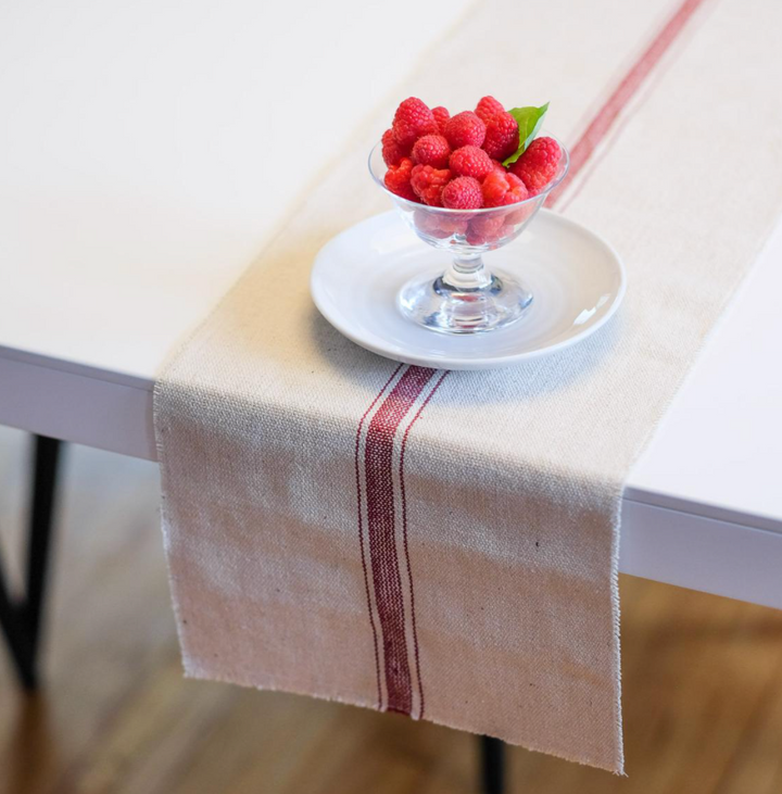 Farmhouse Table Runner - Red Three Stripe