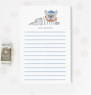 Tres Important Frenchie Notepad