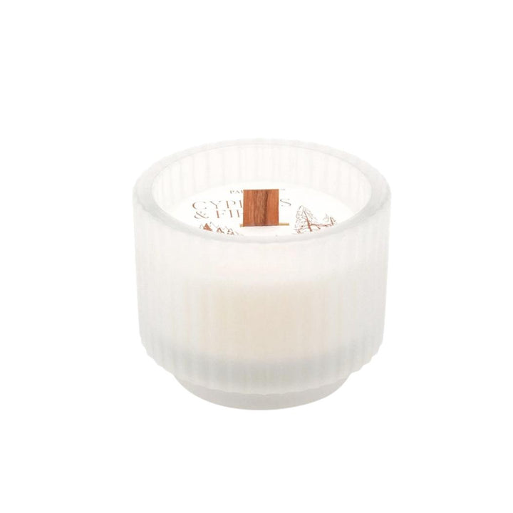 Cypress Fir Holiday Frosted Glass Candle - 5oz