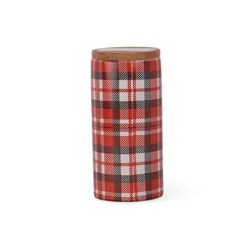 Tartan Plaid Ceramic Soy Wax Candle