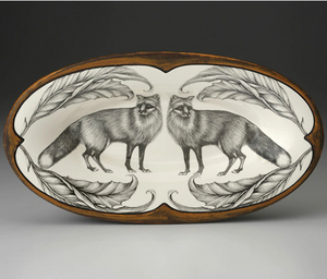 Laura Zindel Oblong Serving Dish - Red Fox