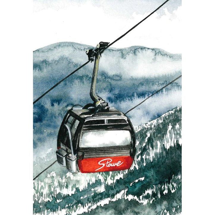 "This Is Vermont Print Series 3 - ""Goin' Up Stowe Gondola"" 8 x 10"