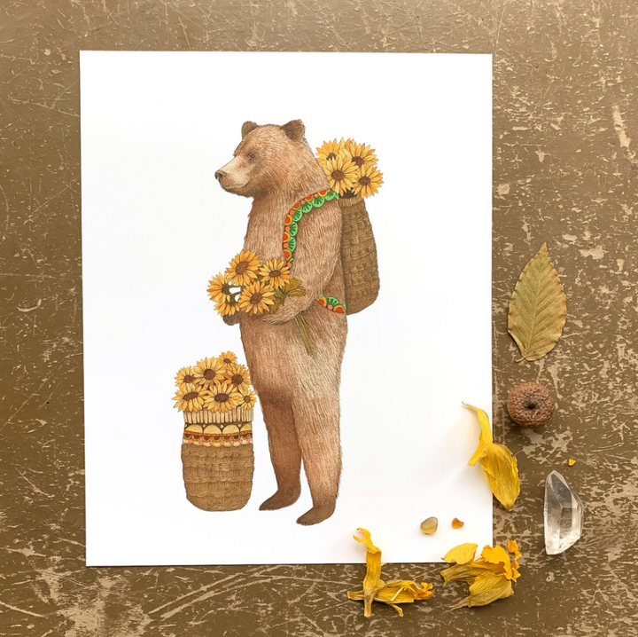 Flower Messenger: The Bear Print - 8 x 10