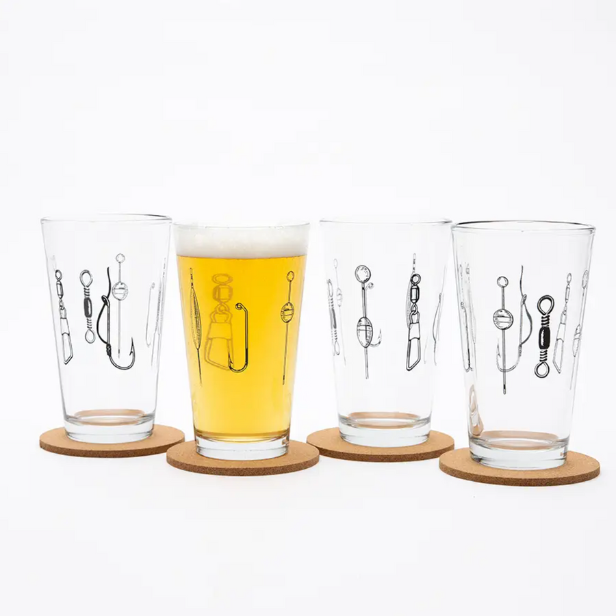 Fishing Lures Pint Glass