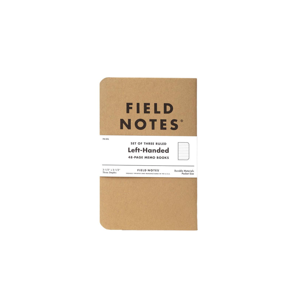 Field Notes Left Handed Memo Book - 3 Pack