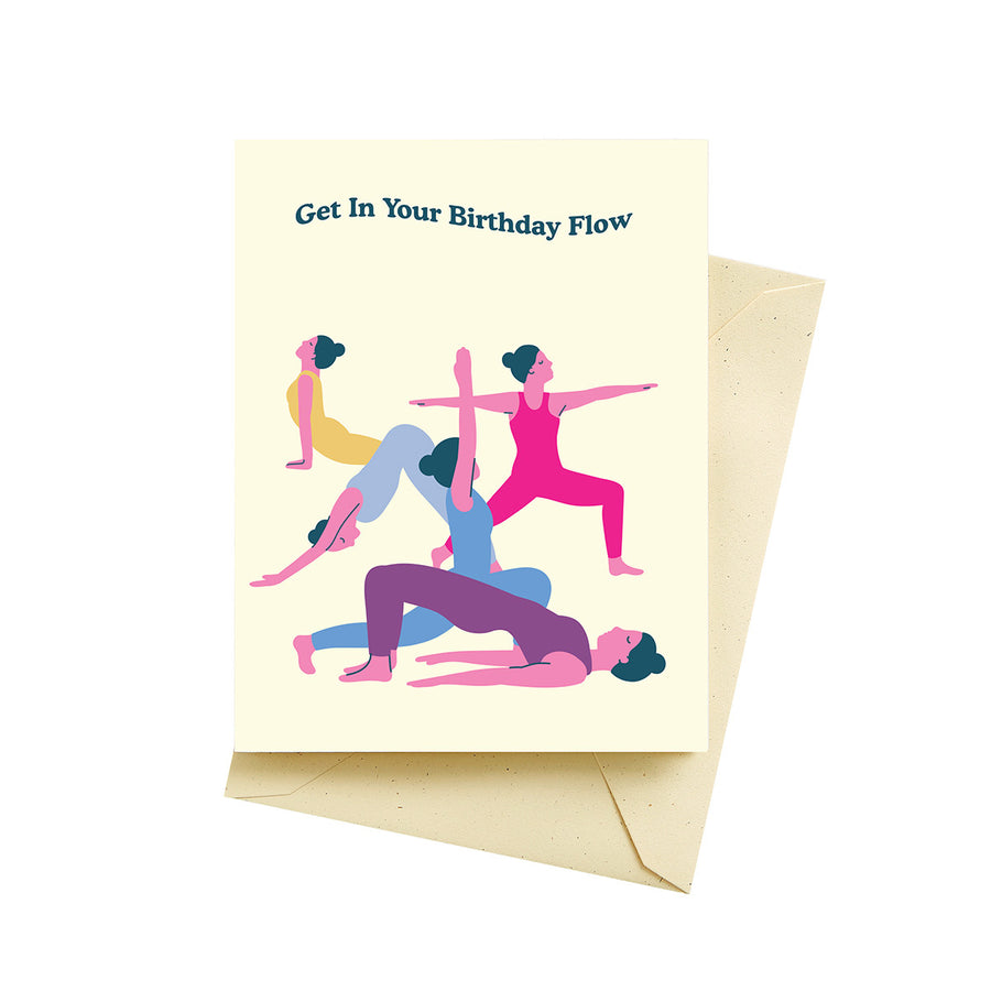 Yoga Flow Birthday Card - SG