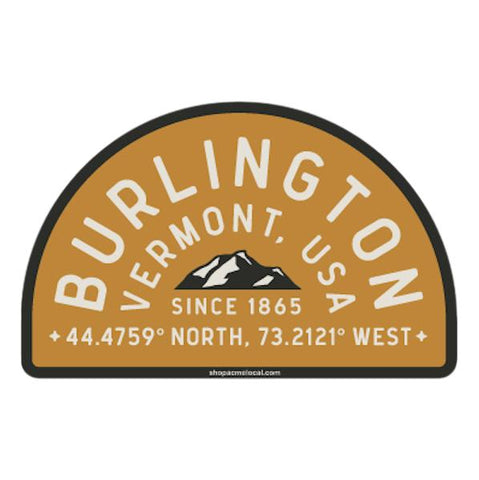 Burlington Half Badge Sticker