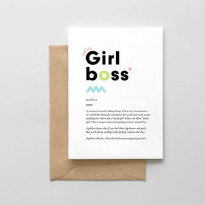 Girl Boss Definition Card - SM2