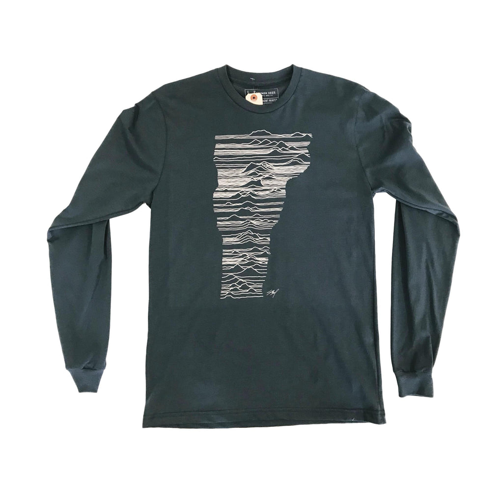 Mountains of Vermont Blue Long Sleeve