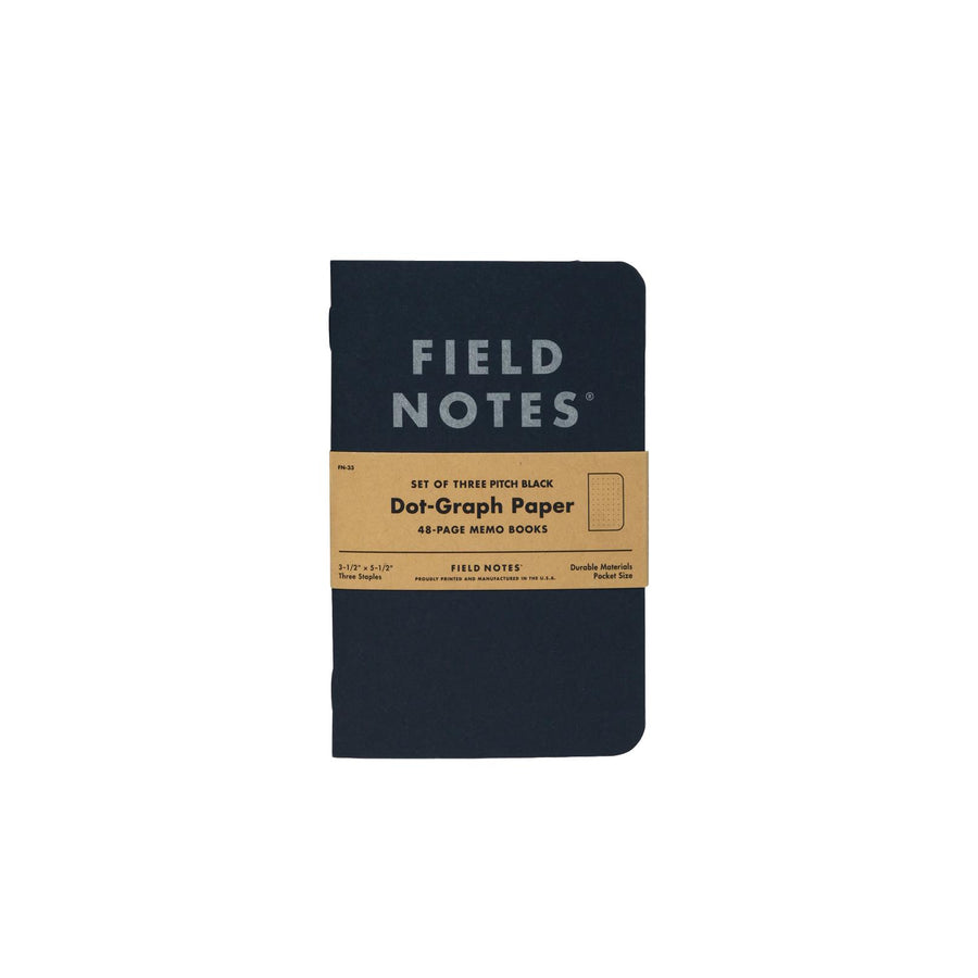 Field Notes Pitch Black Memo Book 3-Pack