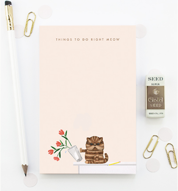Right Meow Cat Notepad