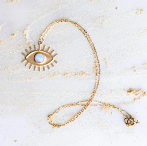 Eye Saw the Sign Calcite Necklace