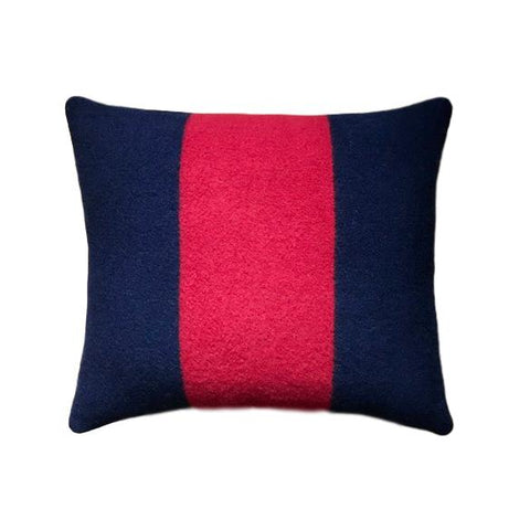 Pendleton Wool Navy and Red Pillow