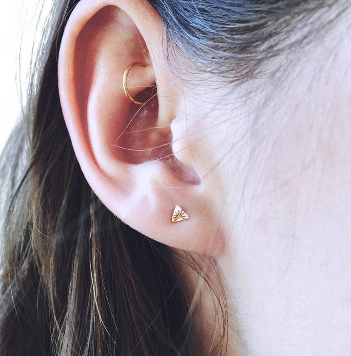 Sunrise Triangle Studs