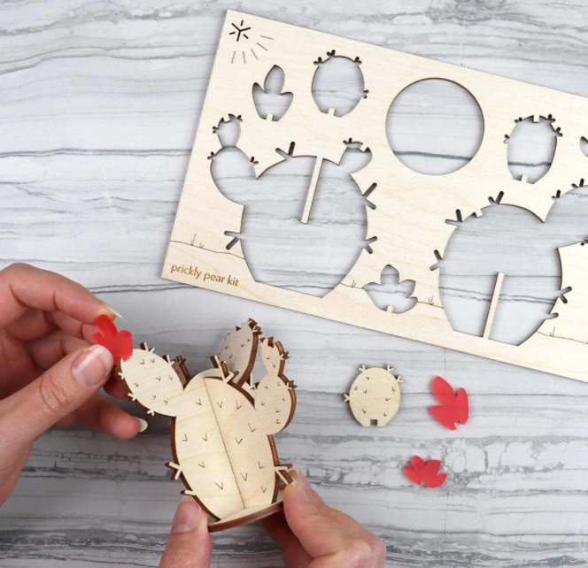 Wooden Prickly Pear Cactus Kit