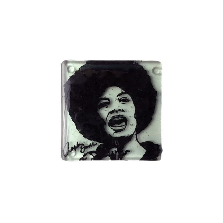 Glass Coaster - Angela Davis