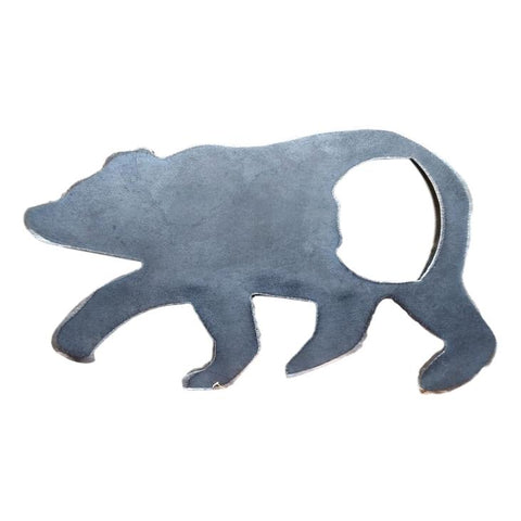 Rustic Steel Bear Bottle Opener