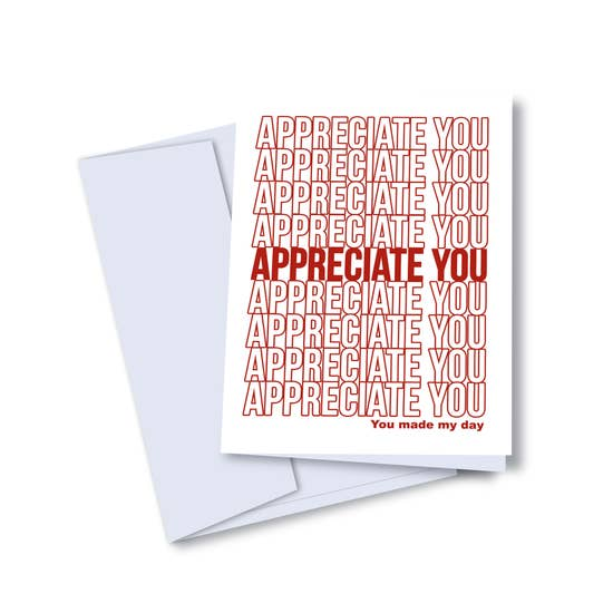 Appreciate You Appreciate You Card - KD1