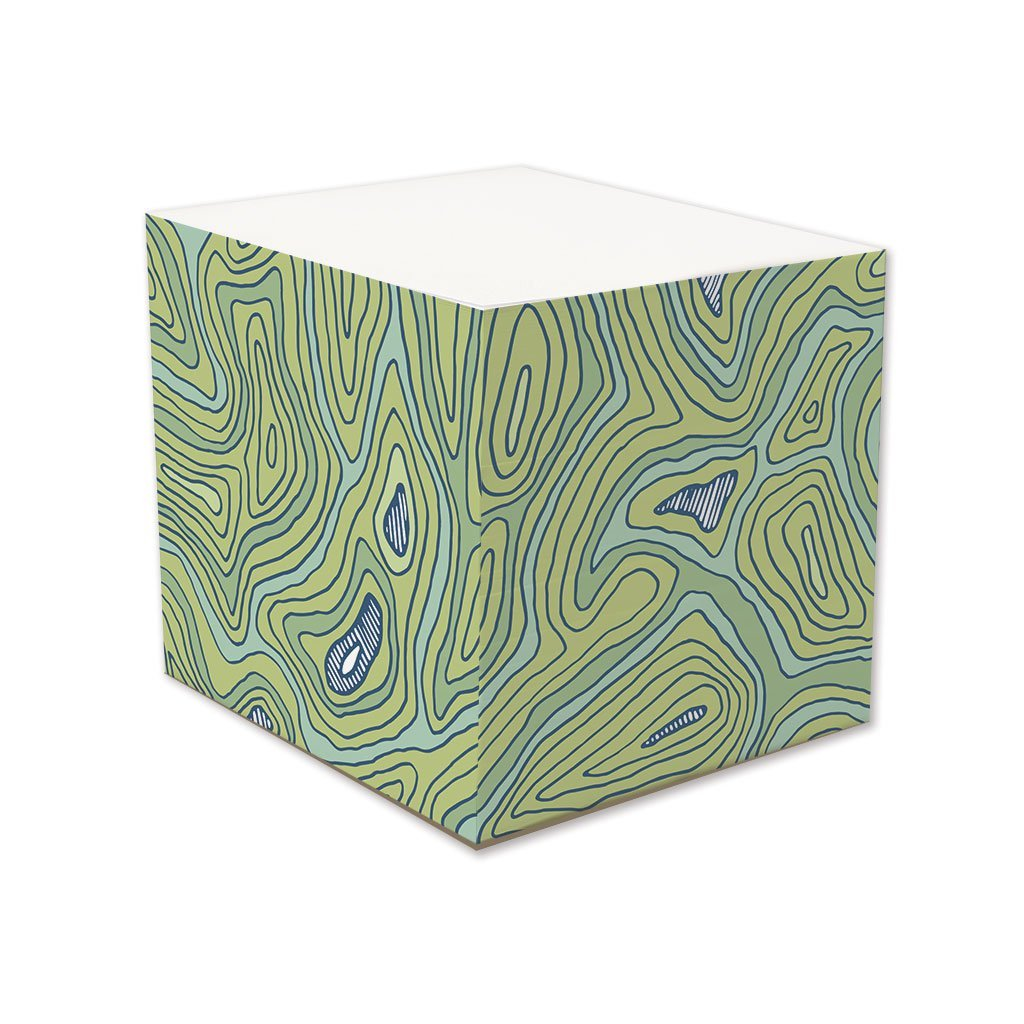 Topographic Note Cube