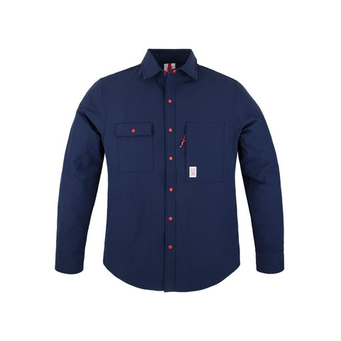 TOPO Navy Breaker Shirt Jacket