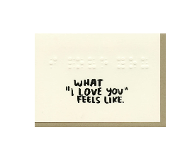 What I Love You Feels Like Card - PL1
