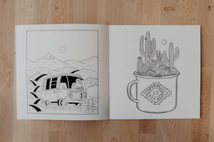Camping Coloring Book