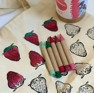 Color Your Own Tote Kit - Strawberry