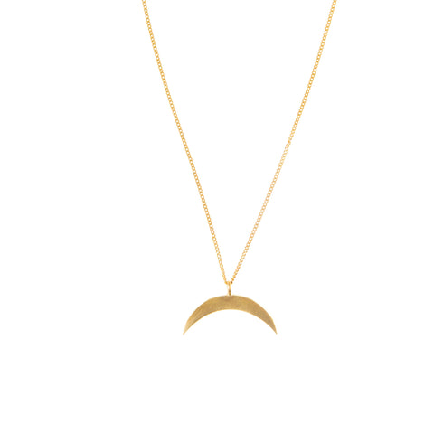 Crescent Brass Necklace
