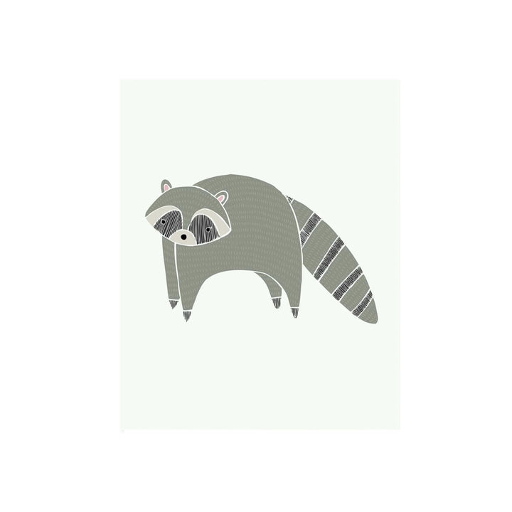 Woodland Raccoon Print - 8.5 x 11