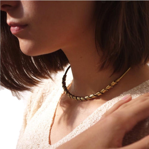 Bronze Wrapped Collar