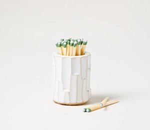 Farmhouse Pottery White Log Match Striker