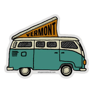 VW Bus Vermont Sticker