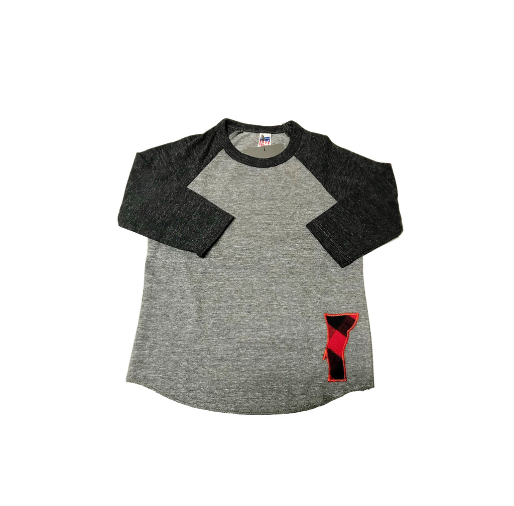 Kid's Grey Vermont Raglan Shirt