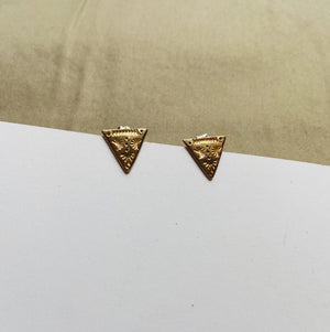 Triangle Symetrie Studs Brass