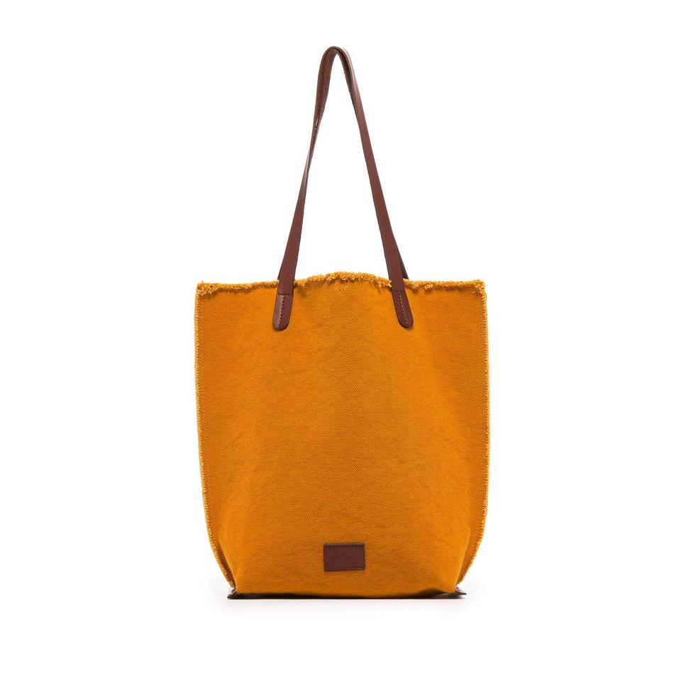 Hana Canvas Tote Bag in Turmeric Yellow