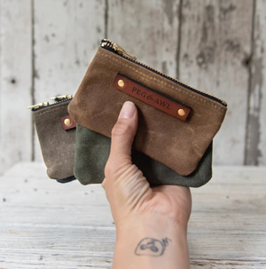 Waxed Canvas Spender Pouch