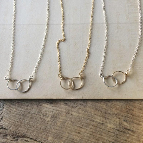 Joined Rings Necklace